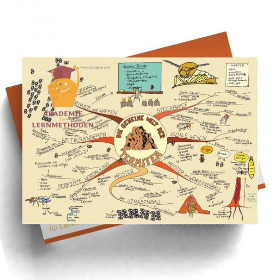 Mindmap Termiten- Papierformat
