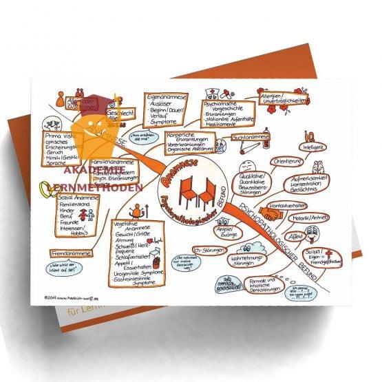 Mindmap zum Thema Anamnese Befund