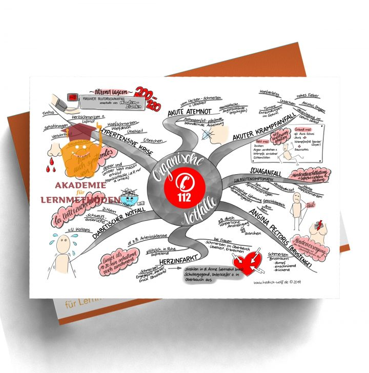 Mindmap zum Thema Organische Notfälle