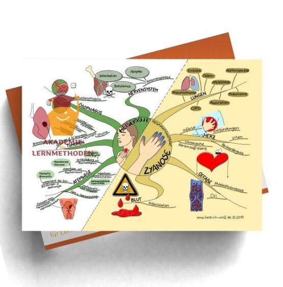 Mindmap zum Thema Heiserkeit - Zyanose