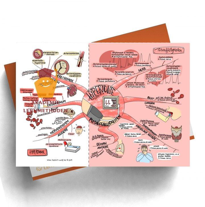 Mindmap zum Thema Hypertonie - Pulsauffälligkeiten