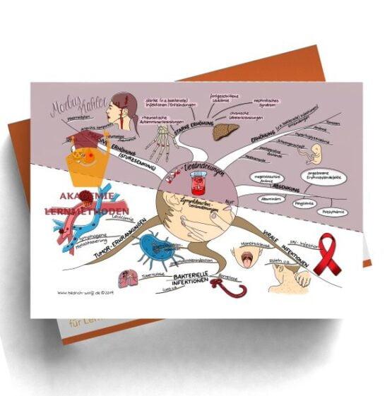 Mindmap zum Thema Veränderungen - Lymphknotenveränderungen