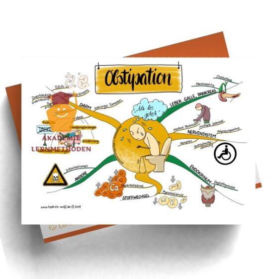 Mindmap zum Thema Obstipation