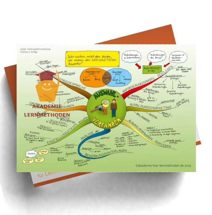 Mindmap für die AEVO zum Auswahlverfahren für Bewerber