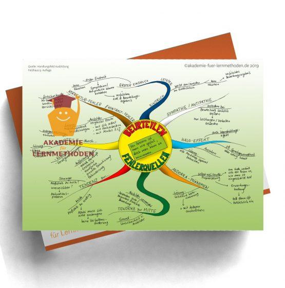 Mindmap für die AEVO zum Thema Beurteilungsfehler