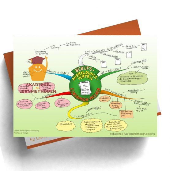 Mindmap für die AEVO über das Melden von Ausbildungsverträgen