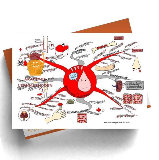 Mindmap zum Thema Blut Phatologie Allgemein für den med. Heilpraktiker