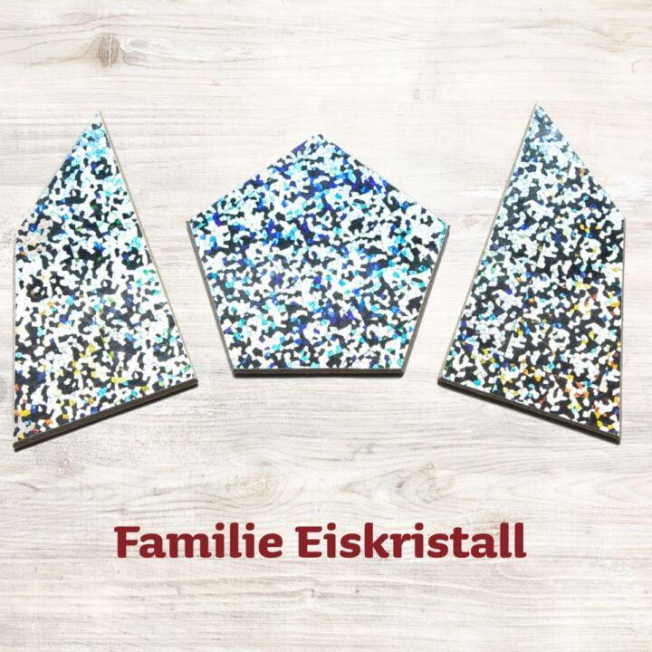 Familie Eiskristall für das Speedolino Schneesturm Spiel.