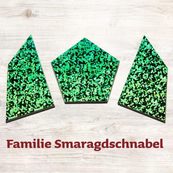 Familie Smaragdschnabel für das Speedolino Schneesturm Spiel.